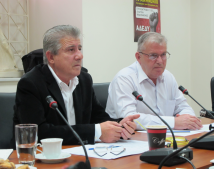 ADEDY President Odysseus Dravalas and General Secretary Ermolaos Kasses